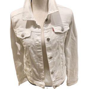 Levi's Original White Jean Jacket Red Tag XL (Jr)